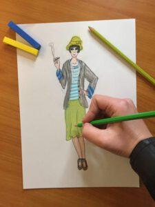 Roaring 20's Mode Teken Cursus - Online Mode Academie